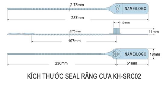 seal niêm phong nhựa 30cm