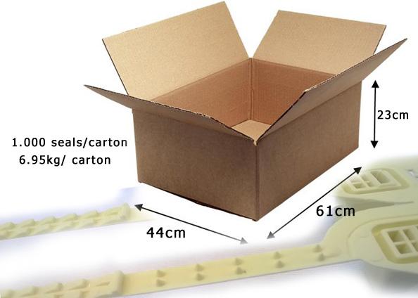 kích thước kẹp chì nhựa răng cưa