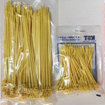 dây rút nhựa màu vàng 20cm